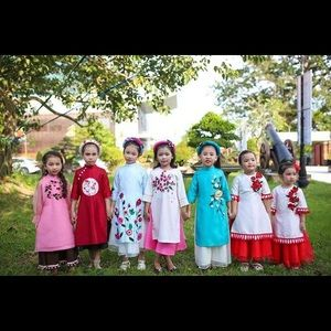 Ao dai - Vietnamese tradition/ Chinese New Year